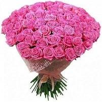 Buchet din 101 trandafiri roz