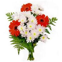 Buchet gingas de gerbere si crizanteme