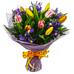 Buchet firav cu irisi si lalele