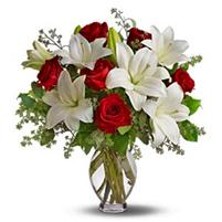 Buchet luxos de crini si trandafiri