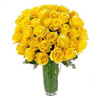 Buchet premium din 35 trandafiri galbeni