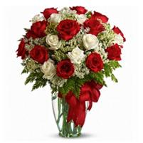 Buchet premium din trandafiri si gypsophila