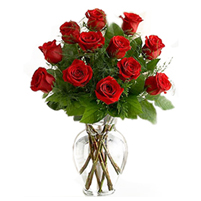 Buchet romantic din 11 trandafiri