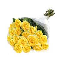 Buchet stilat din trandafiri galbeni