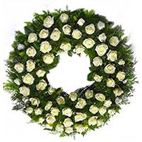 Coroana rotunda trandafiri albi