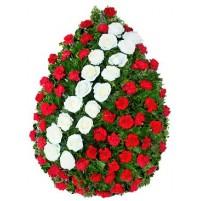 Coroana garoafe si trandafiri