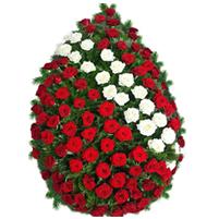 Coroana trandafiri doua culori