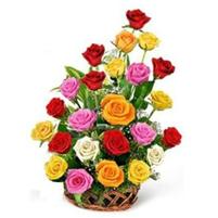 """Cos cu trandafiri """"cascada culorilor"""""""